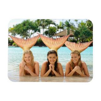 Group On The Beach Rectangular Photo Magnet