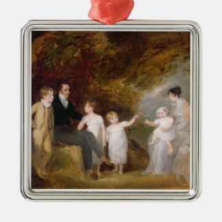 Group Portrait in a Wooded Landscape Christmas Ornament