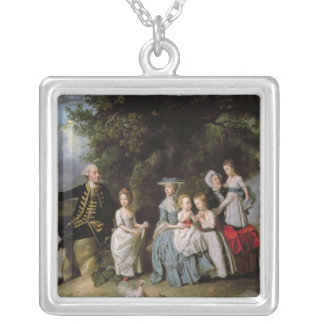 Group Portrait of the Colmore Family Silver Plated Necklace