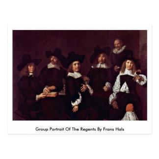 Group Portrait Of The Regents By Frans Hals Postcard