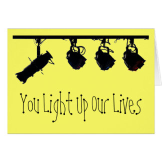 Group Thank You Card For Light Crew