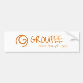 Groupee, Where Fans Get Closer Bumper Sticker