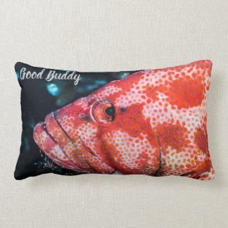 Grouper and Cleaner Shrimp Lumbar Cushion