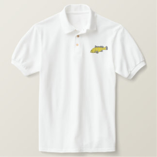 Grouper Embroidered Polo Shirts