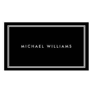 Groupon Elegant Classic Black Pack Of Standard Business Cards