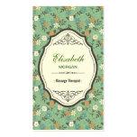 Groupon - Massage Therapist Elegant Vintage Floral Pack Of Standard Business Cards