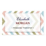 Groupon - Massage Therapist Graceful Chevron Pack Of Standard Business Cards