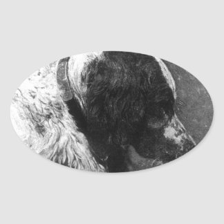 Grouse by Thomas Eakins Oval Sticker