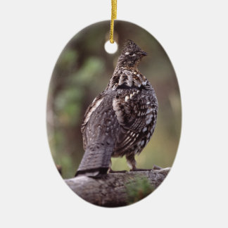 grouse ceramic oval decoration