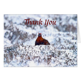 Grouse in a Blizzard Thank You Card
