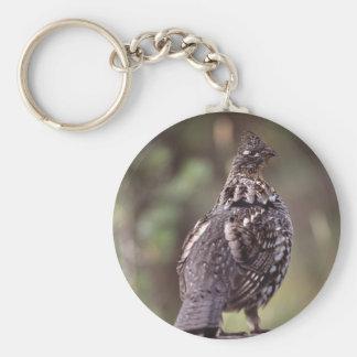 grouse basic round button key ring