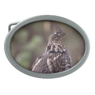 grouse oval belt buckle