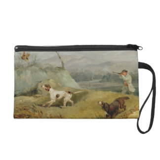 Grouse Shooting (oil on canvas) Wristlet