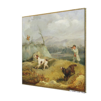 Grouse Shooting (oil on canvas) Canvas Prints
