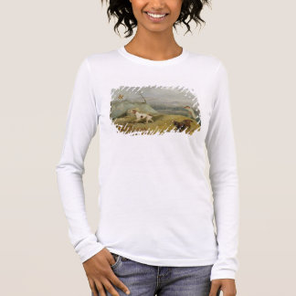 Grouse Shooting (oil on canvas) Long Sleeve T-Shirt