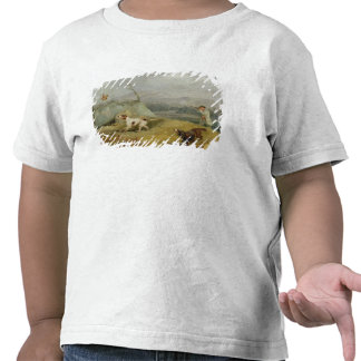 Grouse Shooting (oil on canvas) T Shirt