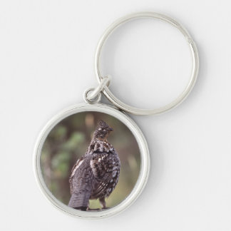 grouse Silver-Colored round key ring
