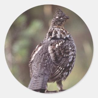 grouse round sticker