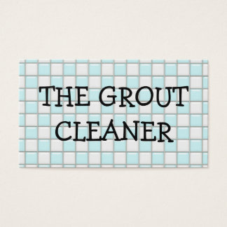 Grout Cleaning Service Business Card