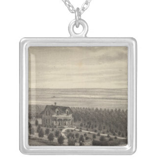 Grove Farm, Hays City, Kansas Silver Plated Necklace
