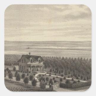 Grove Farm, Hays City, Kansas Square Sticker