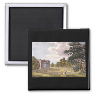 Grove House in Middlesex_Engravings Square Magnet