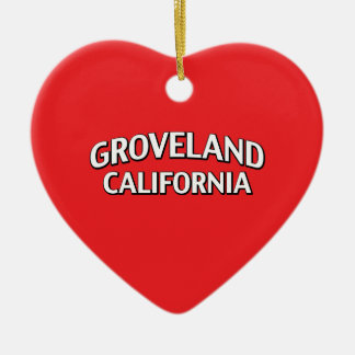 Groveland California Christmas Ornament