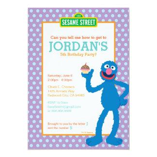 Grover Birthday 13 Cm X 18 Cm Invitation Card
