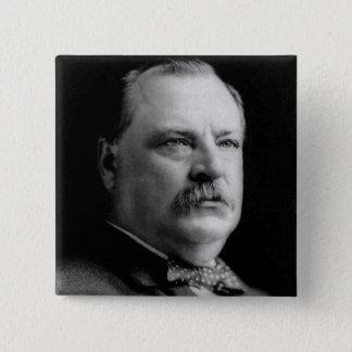 Grover Cleveland 15 Cm Square Badge