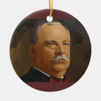 Grover Cleveland  22 &24th President Christmas Ornament