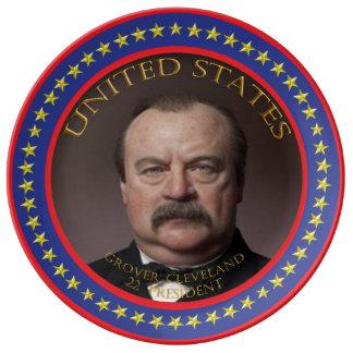 Grover Cleveland 22nd President Porcelain Plate