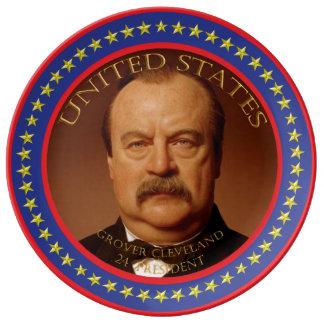 Grover Cleveland 24th President Porcelain Plates