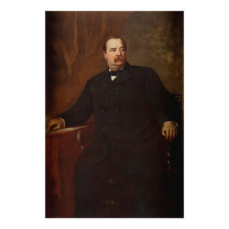 GROVER CLEVELAND Portrait by Eastman Johnson Print