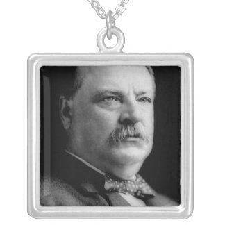 Grover Cleveland Square Pendant Necklace