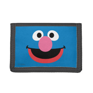 Grover Face Art Tri-fold Wallet