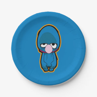 Grover Zombie Paper Plate
