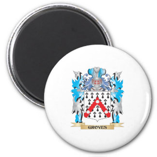 Groves Coat of Arms - Family Crest Refrigerator Magnets