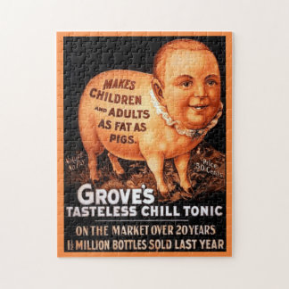 Groves Tonic makes children and adults fat as pigs Jigsaw Puzzle