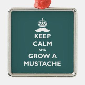 Grow a Mustache Christmas Ornament