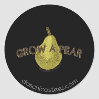 Grow A Pear Classic Round Sticker