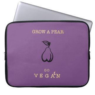 Grow a Pear - Go Vegan Laptop Case