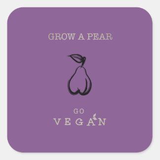 Grow a Pear - Go Vegan Stickers