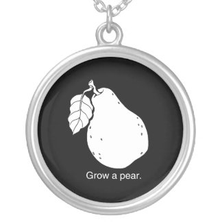 GROW A PEAR - WHITE - png Necklaces