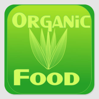 Grow, Eat, Buy organic food sticker