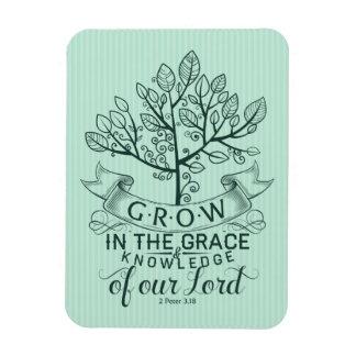 Grow in Grace Bible Verse Photo Magnet