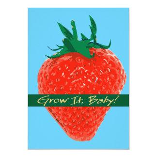 Grow It Baby! - Strawberry Invitation