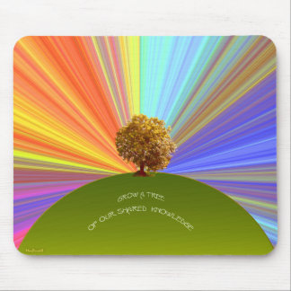 Grow Knowledge Tree Mouse Pad