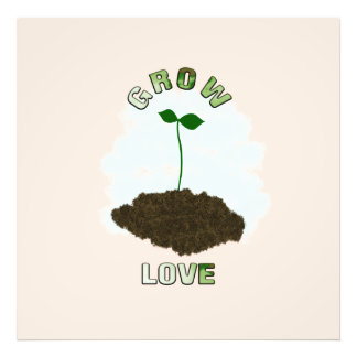 Grow love photo print