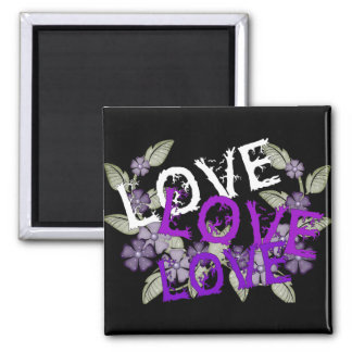 Grow Love Square Magnet