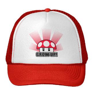 Grow Up Red Mushroom Powerup Cap